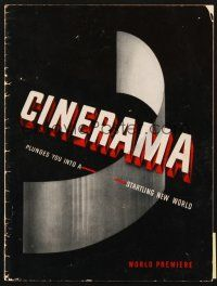 4c047 CINERAMA 2nd printing program '52 it plunges you into a startling new world!