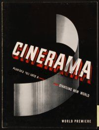 4c048 CINERAMA 1st printing program '52 it plunges you into a startling new world!