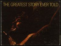 4c038 GREATEST STORY EVER TOLD hardcover program book '65 George Stevens, Max von Sydow as Jesus!