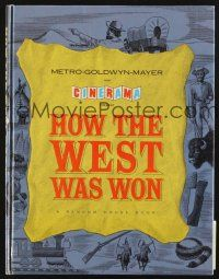 4c039 HOW THE WEST WAS WON hardcover program book '64 John Ford classic all-star Cinerama epic!