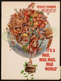 4c057 IT'S A MAD, MAD, MAD, MAD WORLD Cinerama program '64 art of cast on Earth by Jack Davis!