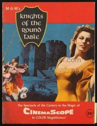 4c059 KNIGHTS OF THE ROUND TABLE program '54 Robert Taylor as Lancelot, Ava Gardner as Guinevere!