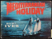 4c061 MEDITERRANEAN HOLIDAY program '64 all the excitement your mind ever imagined in Cinerama!