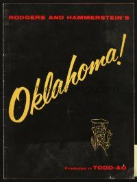 4c062 OKLAHOMA program '56 Rodgers & Hammerstein musical produced in TODD-AO!
