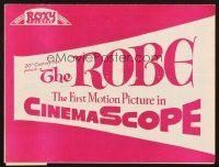 4c063 ROBE local theater program '53 the first motion picture in CinemaScope!