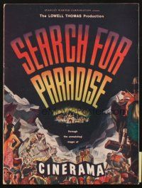 4c065 SEARCH FOR PARADISE program '57 Cinerama, Lowell Thomas' Himalayan travels in Nepal!