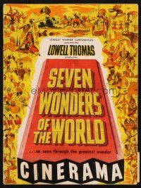 4c066 SEVEN WONDERS OF THE WORLD program '56 travelogue of the famous landmarks in Cinerama!