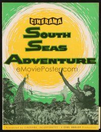 4c067 SOUTH SEAS ADVENTURE program '58 the story of six who surrendered to its lure in Cinerama!