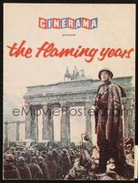 4c073 STORY OF THE FLAMING YEARS English program '61 World War II Russia in Cinerama!