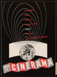 4c069 THIS IS CINERAMA program R73 plunges you into a startling new world of entertainment!