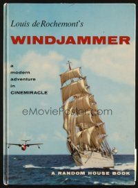 4c040 WINDJAMMER hardcover program book '58 sailing documentary by Louis De Rochemont!