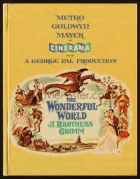 4c041 WONDERFUL WORLD OF THE BROTHERS GRIMM hardcover program book '62 fairy tales in Cinerama!
