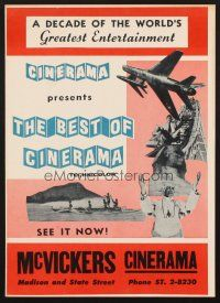 4c006 BEST OF CINERAMA special 12x16 '63 from a decade of the world's greatest entertainment!