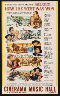 4c007 HOW THE WEST WAS WON 9x15 special poster '62 John Ford classic all-star Cinerama epic!