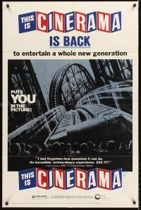 4c033 THIS IS CINERAMA 1sh R73 plunges you into a startling new world of entertainment!