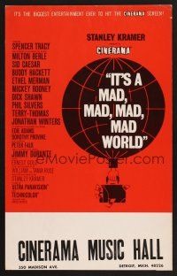 4c001 IT'S A MAD, MAD, MAD, MAD WORLD Cinerama WC 1964 best different Saul Bass-like balloon art!