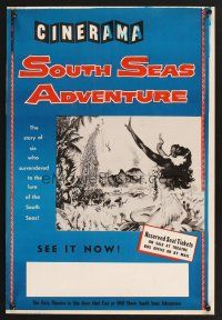 4c002 SOUTH SEAS ADVENTURE WC '58 the story of six who surrendered to its lure in Cinerama!