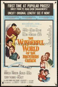 4c034 WONDERFUL WORLD OF THE BROTHERS GRIMM 1sh '62 George Pal fairy tales!