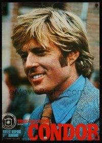 4d467 3 DAYS OF THE CONDOR Japanese '75 different portrait image of secret agent Robert Redford!