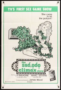 4g002 $50,000 CLIMAX SHOW 1sh '75 TV's 1st sex gameshow, she came to hit the jackpot!