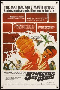 4g012 5 FINGERS OF DEATH 1sh '73 martial arts masterpiece with sights & sounds like never before!