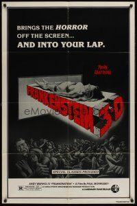 4g047 ANDY WARHOL'S FRANKENSTEIN 3-D 1sh R80s Joe Dallessandro, directed by Paul Morrissey!