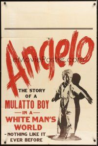 4g050 ANGELO 1sh '49 story of a Mulatto boy in a white man's world, nothing like it ever before!