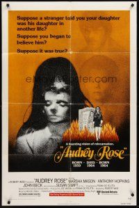 4g058 AUDREY ROSE 1sh '77 Susan Swift, Anthony Hopkins, a haunting vision of reincarnation!