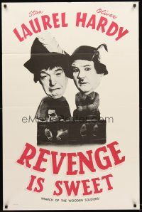 4g061 BABES IN TOYLAND 1sh R60s great image of Laurel & Hardy, Revenge is Sweet!