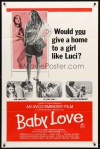 4g062 BABY LOVE 1sh '69 would you give a home to a girl like Luci, a BAD girl!
