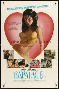 4g063 BABYFACE 1sh '77 classic Alex de Renzy, sexy art of America's newest sweetheart!
