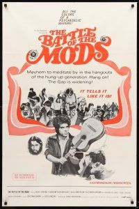 4g078 BATTLE OF THE MODS 1sh '66 psychedelic Crazy Baby, restless for a new sound, a new kick!