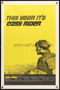 4g247 EASY RIDER style C 1sh '69 Peter Fonda, motorcycle biker classic directed by Dennis Hopper!