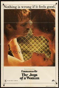 4g256 EMMANUELLE 2 THE JOYS OF A WOMAN 1sh '76 Sylvia Kristel, nothing is wrong if it feels good!