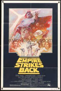 4g257 EMPIRE STRIKES BACK 1sh R81 George Lucas sci-fi classic, cool artwork by Tom Jung!