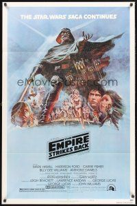 4g259 EMPIRE STRIKES BACK style B 1sh '80 George Lucas sci-fi classic, cool artwork by Tom Jung!