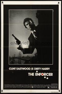 4g260 ENFORCER 1sh '76 photo of Clint Eastwood is Dirty Harry by Bill Gold!