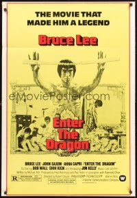 4g261 ENTER THE DRAGON 1sh R79 Bruce Lee kung fu classic, the movie that made him a legend!