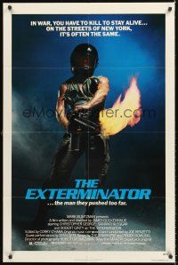 4g278 EXTERMINATOR 1sh '80 Robert Ginty is the man they pushed too far!