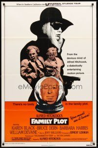 4g286 FAMILY PLOT red style 1sh '76 the mind of devious Alfred Hitchcock, Karen Black, Bruce Dern!
