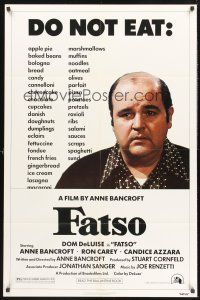 4g295 FATSO 1sh '80 Dom DeLuise goes on a diet, hilarious best image, directed by Anne Bancroft!