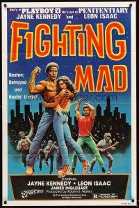 4g302 FIGHTING MAD 1sh '78 Leon & Jayne Kennedy, beaten, betrayed, and bustin' loose!