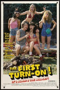 4g310 FIRST TURN-ON 1sh '83 Troma sex, the first movie to make you wanna strip off!