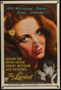 4g566 LOCKET style A 1sh '46 great close-up artwork of Laraine Day, Brian Aherne!