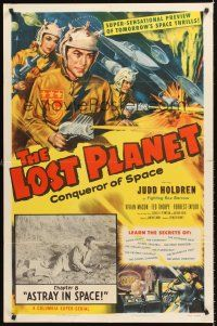 4g578 LOST PLANET chapter 8 1sh '53 Judd Holdren,sci-fi serial, Astray In Space!