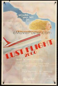 4g587 LUST FLIGHT 2000 1sh '78 coast to coast carnality, art of sexy women in clouds!