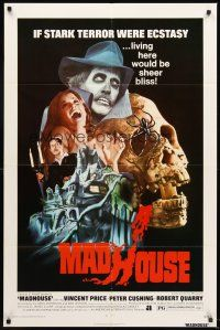 4g590 MADHOUSE 1sh '74 Price, Cushing, if terror was ecstasy, living here would be sheer bliss!