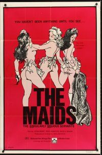 4g591 MAIDS 1sh '73 Jack Jackson, Uschi Digard, art of sexy sinuous servants!