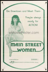 4g592 MAIN STREET WOMEN 1sh '70s they're always ready for action, sexy artwork!