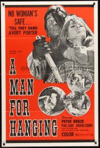 4g594 MAN FOR HANGING 1sh '73 Peter Breck, Paul Carr, Brooke Bundy, no woman's safe!